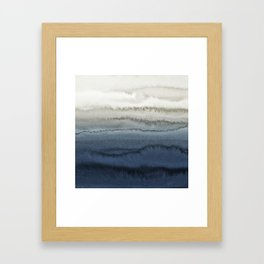 WITHIN THE TIDES - CRUSHING WAVES BLUE Framed Art Print