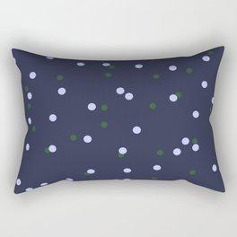 Scattered polka dot print - Navy Rectangular Pillow