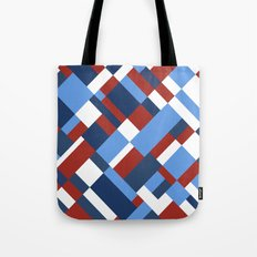 Map 45 Red White and Blue Tote Bag