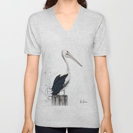 Beach Pelican Unisex V-Neck