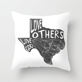 Love God, Love Others Throw Pillow