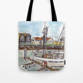 The Harbour, Figueira Da Foz, Portugal Tote Bag