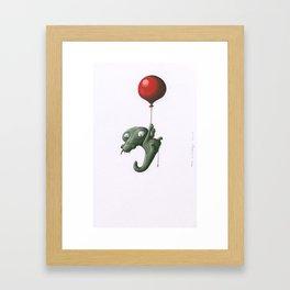Crocodile in Trouble Framed Art Print