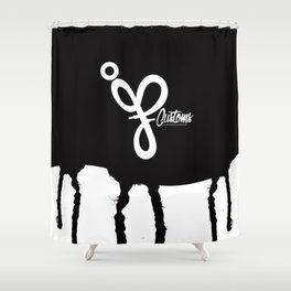 JP Customs  Shower Curtain