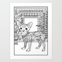 Coloring your Chihuahua Art Print