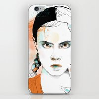 cara iPhone & iPod Skins featuring Cara by Claire.H
