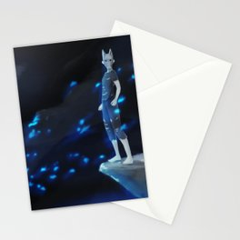 Wild boy with Wolf Pagan Mask Stationery Cards