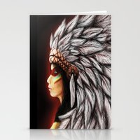 native american Stationery Cards featuring Native by PanDuhVka