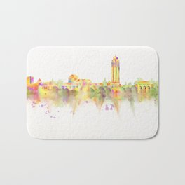 Colorful Stanford California Skyline - University Bath Mat