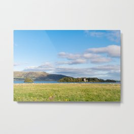 View of Loch Leven in Scotland Metal Print