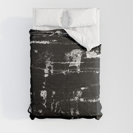 Distressed Grunge 102 in B&W Comforters