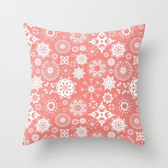 Dia en rosa Throw Pillow