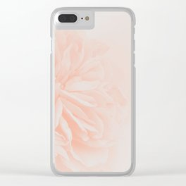 Light Peach Rose #3 #floral #art #society6 Clear iPhone Case