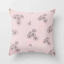 Pastel Bouquet Throw Pillow