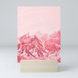 Mountains Red Mini Art Print