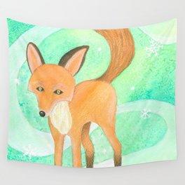 January Fox Wall Tapestry