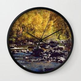 Eagle River in Avon Colorado Wall Clock