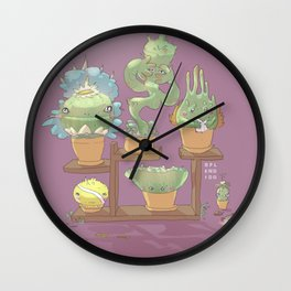 August's Plants Wall Clock