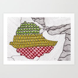 Patterns on Ethiopia Art Print