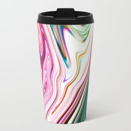 Colorful Marbleized Background Travel Mug
