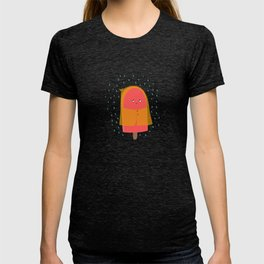 Ice lolly under the rain T-shirt
