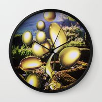 oil Wall Clocks featuring Oil by John Turck