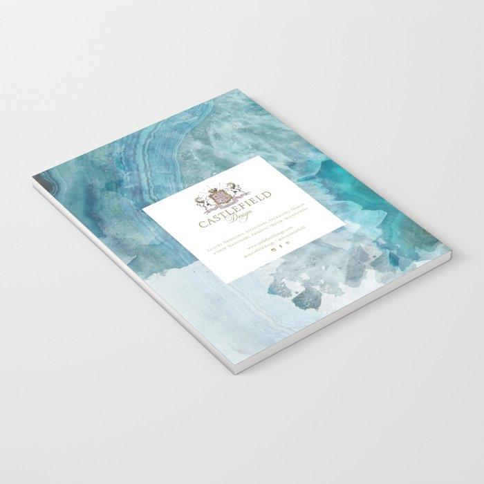 Blue Aqua Agate Notebook