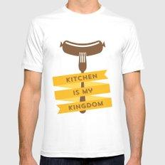 kitchen kingdom Mens Fitted Tee White MEDIUM