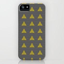 Minimalist Fractal Triangle Print iPhone Case