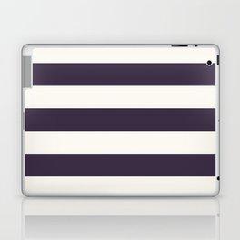 summer beach coastal nautical french fashion navy blue stripes Laptop & iPad Skin