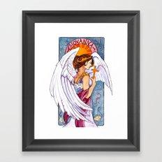 Giovanna - Art Nouveau Angel Framed Art Print