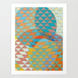 Triangle Pattern No. 11 Circles Art Print