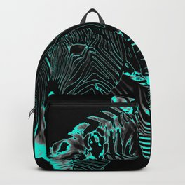 Turquoise Inverse Zebras Backpack