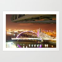 Jib & Clyde Arc Bridge. Art Print