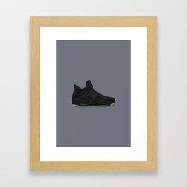 Kaws Jumpman 4 | Black Framed Art Print