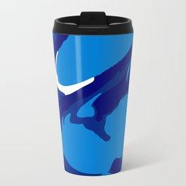 blue paint swirl Travel Mug