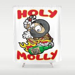 HOLY MOLLY TERRORIST Molotow Present Granade CS GO Shower Curtain