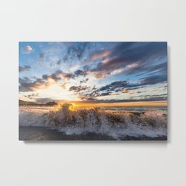 Sunrise Breaking Metal Print