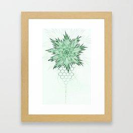 Geometric Flower by Sophi Art Framed Art Print