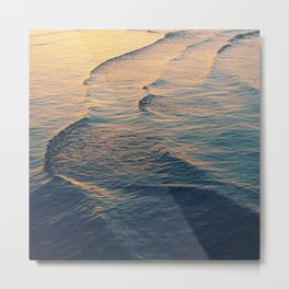 Waves at dusk Metal Print