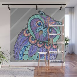 Spring Owl Wall Mural