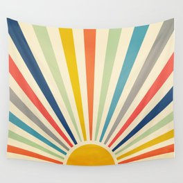 Sun Retro Art III Wall Tapestry