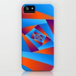 Orange and Blue Spiral iPhone Case