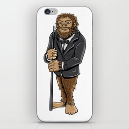 Funny bigfoot shirt - billiards and snooker lover iPhone Skin