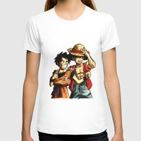 luffy T-shirts featuring Monkey D. Luffy and Son Goku by The Big Duo