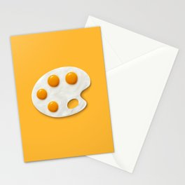 Eggs palette Stationery Cards