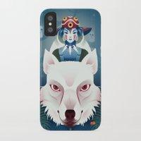 princess mononoke iPhone & iPod Cases featuring Princess Mononoke by Roberta Oriano
