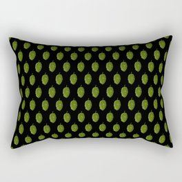 Hops Black Pattern Rectangular Pillow