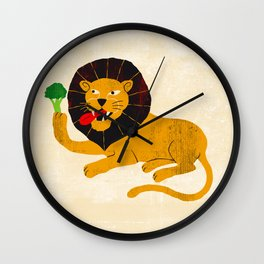 Vegan beast Wall Clock