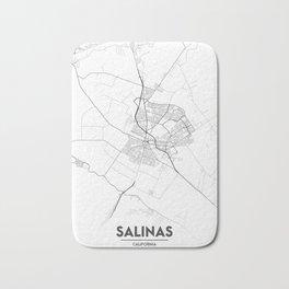 Minimal City Maps - Map Of Salinas, California, United States Bath Mat